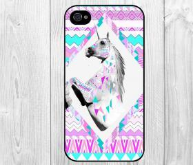 Aztec Tribal Purple Unicorn Pattern Hard Snap on Case Protective Skin Cover For Apple iphone 4 4s, iphone 5 5S, iphone 5C