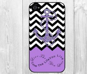 Anchor Chevron Retro Vintage Tribal Nebula Infinity Life Quote Love the Life You Live Pattern Hard Snap on Case Protective Skin Cover For Apple iphone 4 4s, iphone 5 5S, iphone 5C